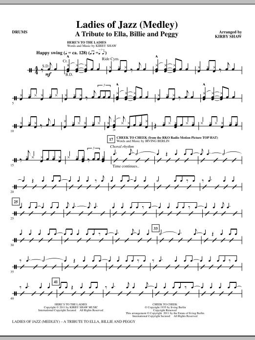 Ladies Of Jazz (Medley) - Drums (Choir Instrumental Pak)