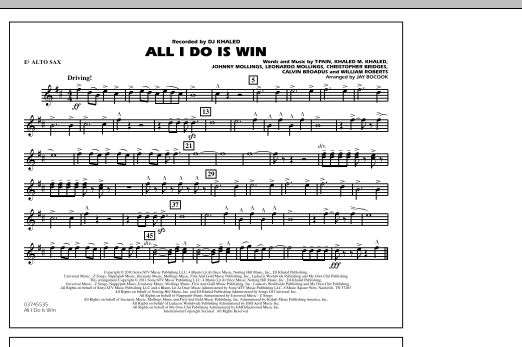 All I Do Is Win - Eb Alto Sax (Marching Band)