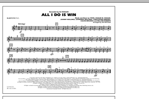 All I Do Is Win - Baritone T.C. (Marching Band)