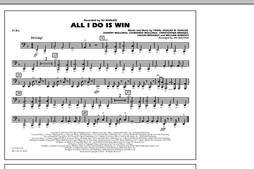 All I Do Is Win - Tuba (Marching Band)