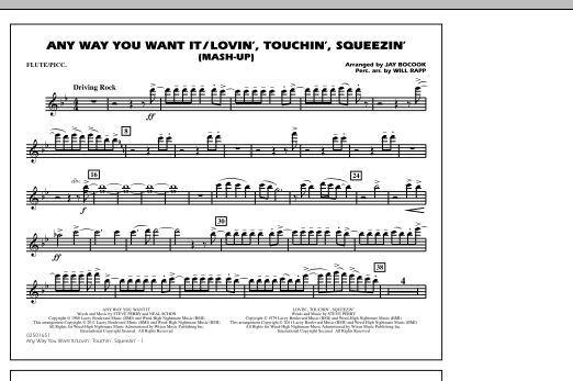 Any Way You Want It / Lovin', Touchin', Squeezin' (Mash-Up) - Flute/Piccolo (Marching Band)
