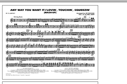 Any Way You Want It / Lovin', Touchin', Squeezin' (Mash-Up) - Bb Clarinet (Marching Band)