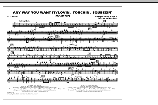 Any Way You Want It / Lovin', Touchin', Squeezin' (Mash-Up) - Eb Alto Sax (Marching Band)