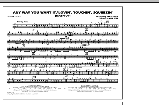 Any Way You Want It / Lovin', Touchin', Squeezin' (Mash-Up) - 1st Bb Trumpet (Marching Band)