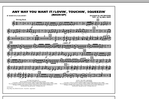 Any Way You Want It / Lovin', Touchin', Squeezin' (Mash-Up) - Bb Horn/Flugelhorn (Marching Band)