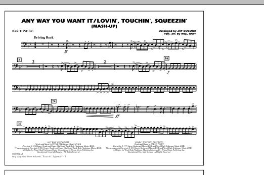 Any Way You Want It / Lovin', Touchin', Squeezin' (Mash-Up) - Baritone B.C. (Marching Band)