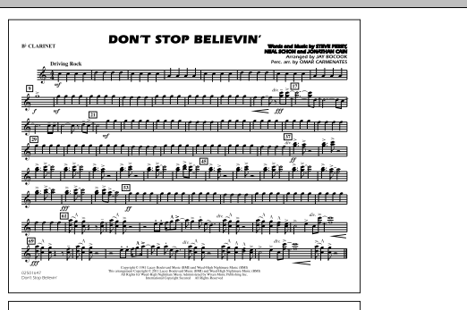 Don't Stop Believin' - Bb Clarinet (Marching Band)