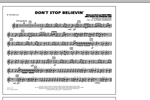 Don't Stop Believin' - Bb Tenor Sax (Marching Band)