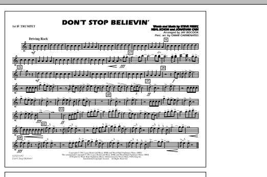 Don't Stop Believin' - 1st Bb Trumpet (Marching Band)