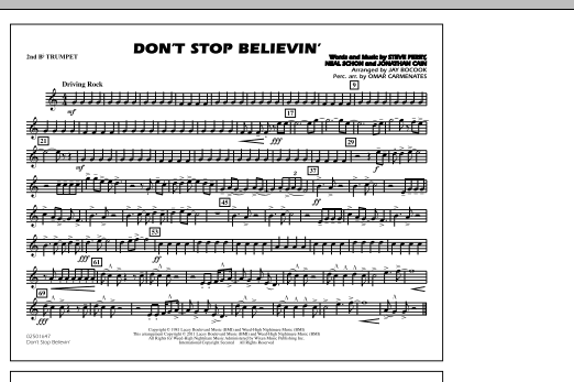 Don't Stop Believin' - 2nd Bb Trumpet (Marching Band)
