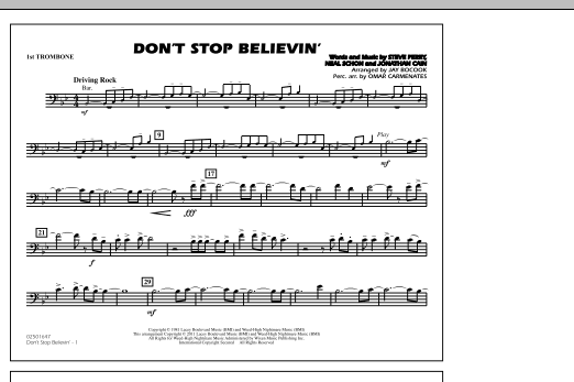 Don't Stop Believin' - 1st Trombone (Marching Band)
