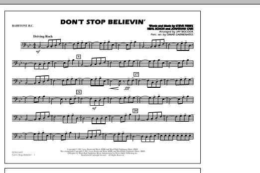 Don't Stop Believin' - Baritone B.C. (Marching Band)