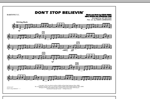Don't Stop Believin' - Baritone T.C. (Marching Band)