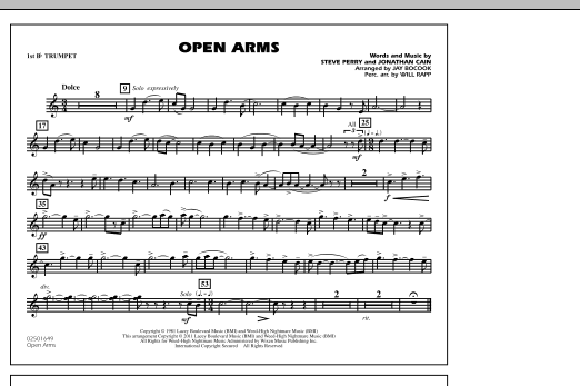 Open Arms - 1st Bb Trumpet (Marching Band)
