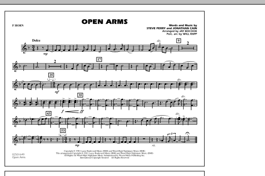Open Arms - F Horn (Marching Band)
