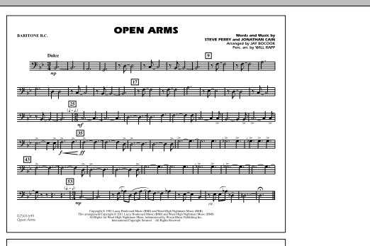 Open Arms - Baritone B.C. (Marching Band)