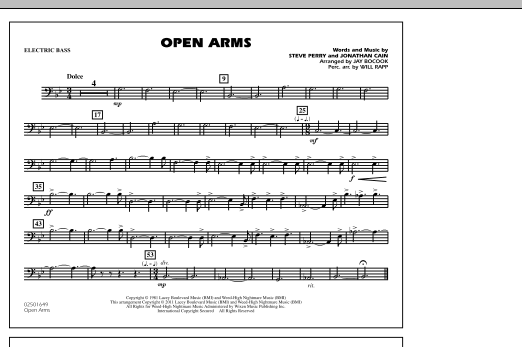 Open Arms - Electric Bass (Marching Band)