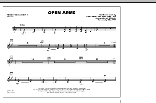 Open Arms - Mallet Percussion 2 (Marching Band)
