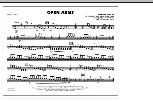 Open Arms - Quad Toms (Marching Band)