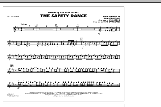 The Safety Dance - Bb Clarinet (Marching Band)