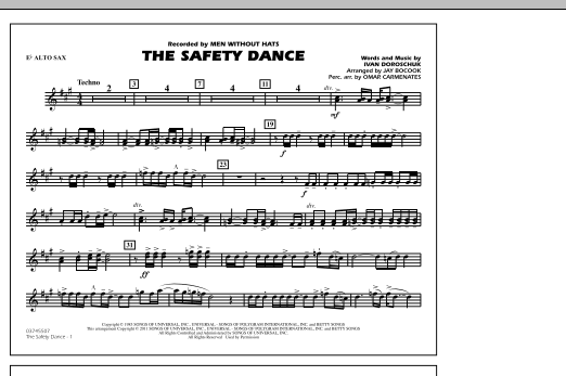 The Safety Dance - Eb Alto Sax (Marching Band)