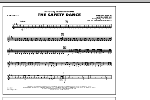 The Safety Dance - Bb Tenor Sax (Marching Band)