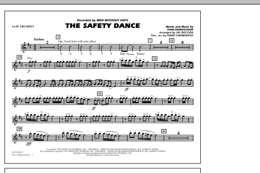 The Safety Dance - 1st Bb Trumpet (Marching Band)