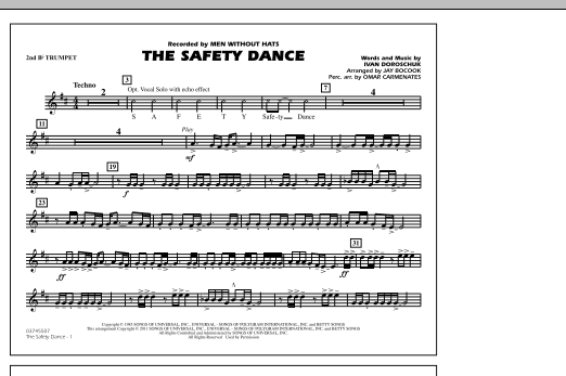 The Safety Dance - 2nd Bb Trumpet (Marching Band)