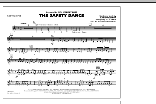 The Safety Dance - 3rd Bb Trumpet (Marching Band)