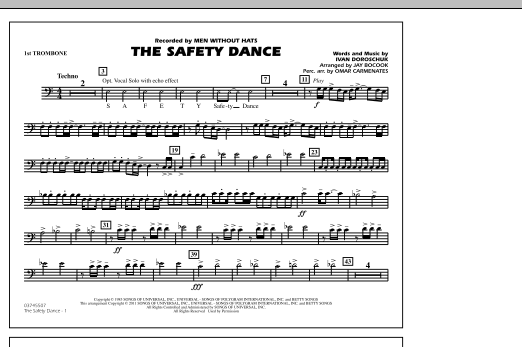 The Safety Dance - 1st Trombone (Marching Band)
