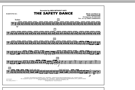 The Safety Dance - Baritone B.C. (Marching Band)