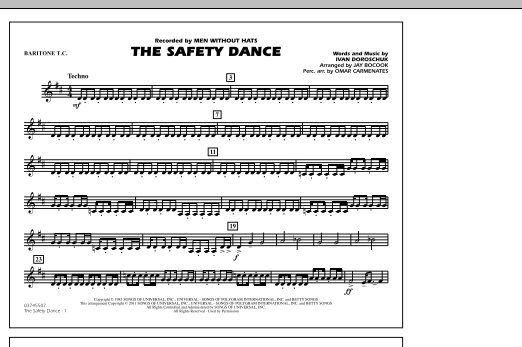 The Safety Dance - Baritone T.C. (Marching Band)