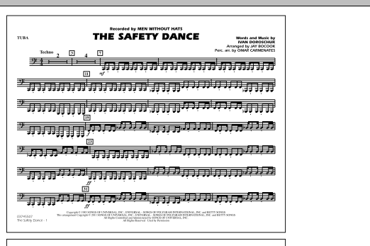 The Safety Dance - Tuba (Marching Band)
