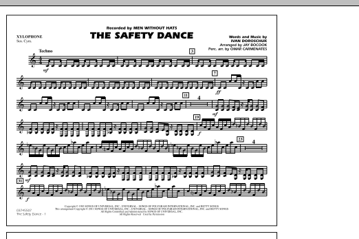 The Safety Dance - Xylophone (Marching Band)