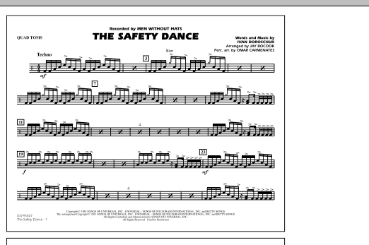 The Safety Dance - Quad Toms (Marching Band)