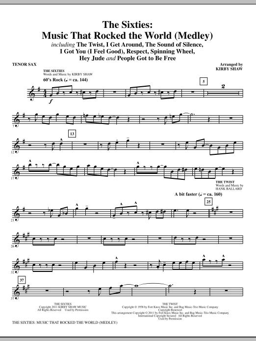 The Sixties: Music That Rocked The World - Bb Tenor Saxophone (Choir Instrumental Pak)