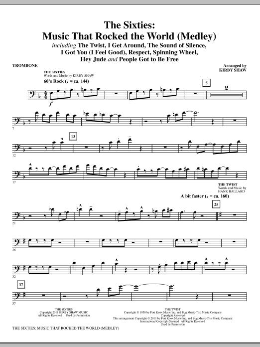 The Sixties: Music That Rocked The World - Trombone (Choir Instrumental Pak)