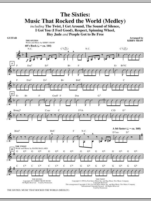 The Sixties: Music That Rocked The World - Guitar (Choir Instrumental Pak)