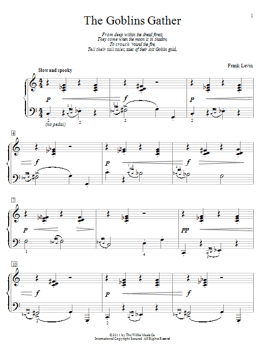 The Goblins Gather Sheet Music