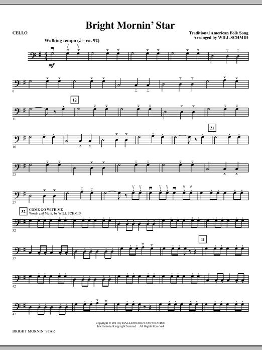 Bright Mornin' Star - Cello (Choir Instrumental Pak)