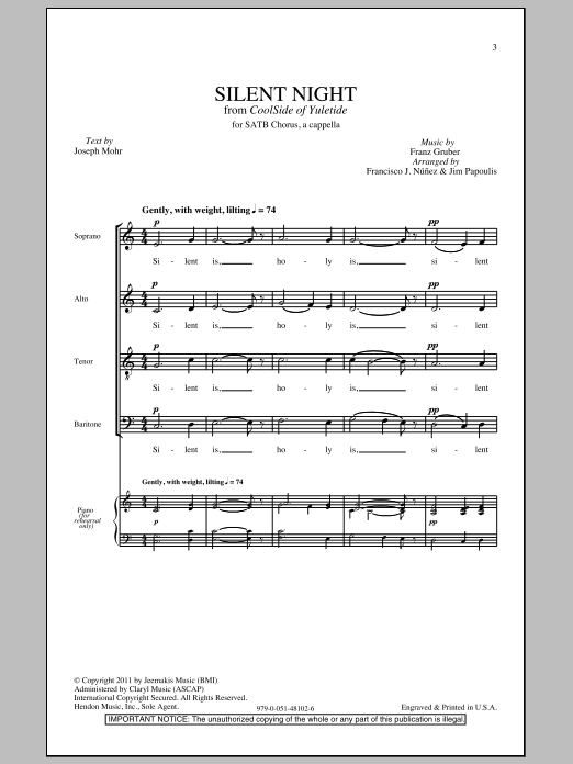 Silent Night (SATB Choir)