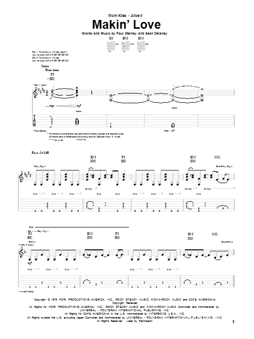 Makin' Love Sheet Music