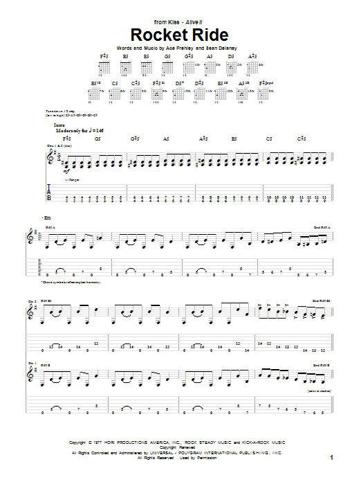 Rocket Ride Sheet Music