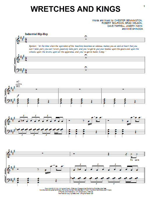 Wretches And Kings Sheet Music