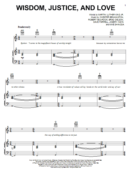 Wisdom, Justice, And Love Sheet Music