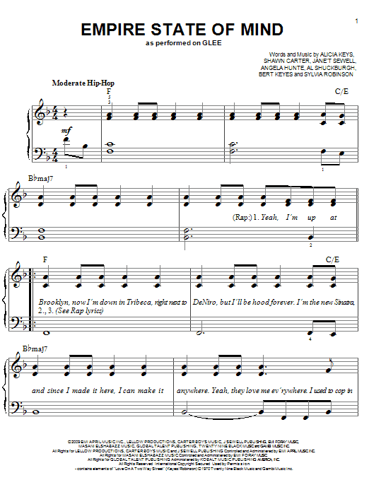 Empire State Of Mind Sheet Music