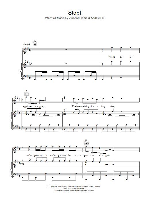 Stop Sheet Music