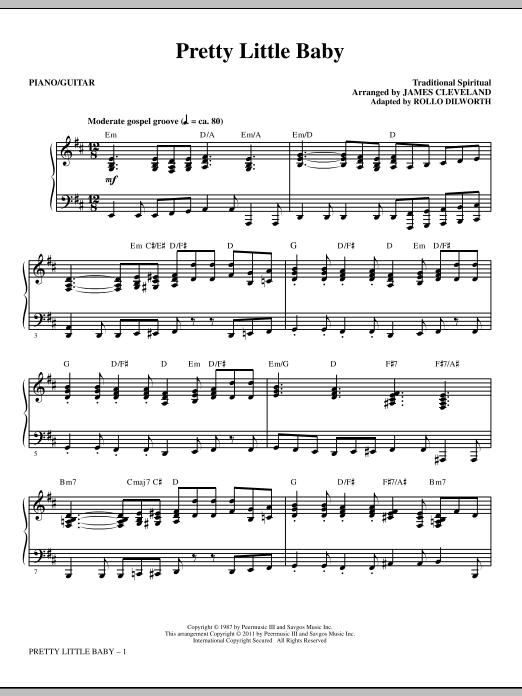 Pretty Little Baby - Piano/Guitar Sheet Music