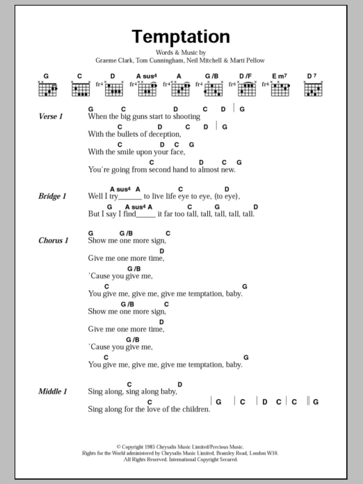 Temptation Sheet Music