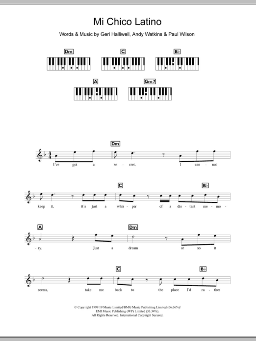 Mi Chico Latino Sheet Music